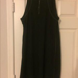 Eileen Fisher black sleeveless tunic dress large